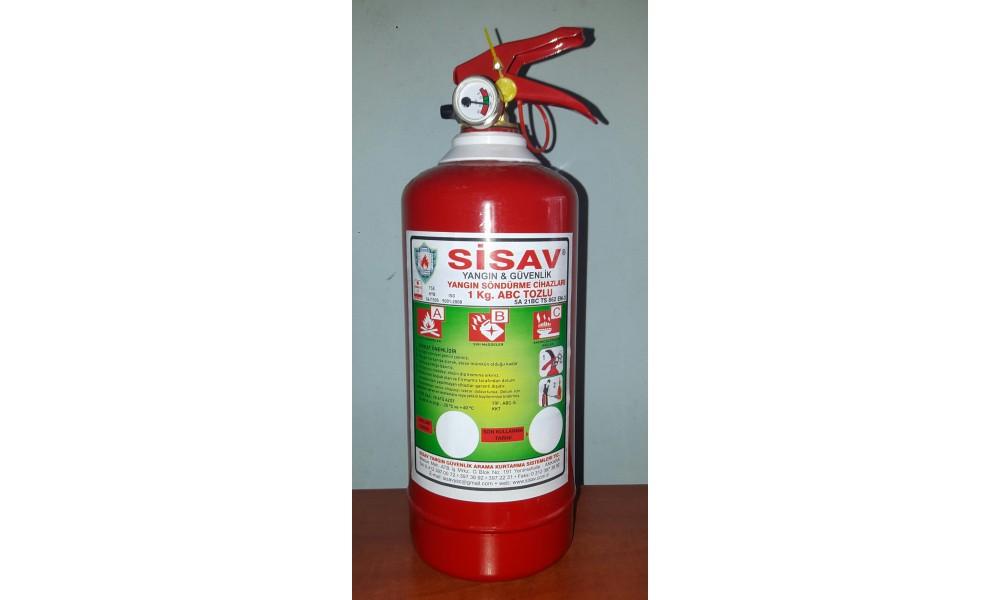 1 kg. Kuru Kimyevi Tozlu Yangın Söndürme Cihazı