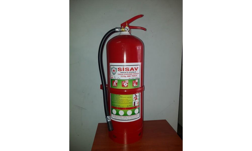 12 kg. Kuru Kimyevi Tozlu Yangın Söndürme Cihazı