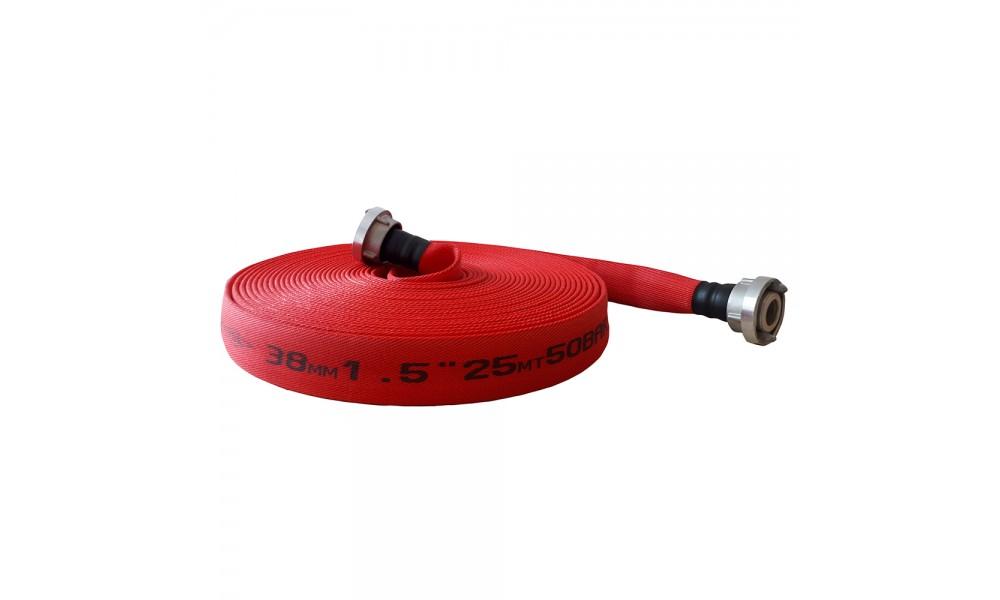 1 ½'' 38 mm KIRMIZI YANGIN HORTUMU ( KAPLAMALI )