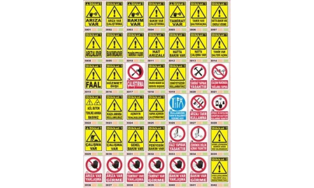 Arıza Tamirat Bakım Onarım Levhaları 3001-3042