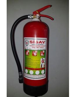 6 kg. Kuru Kimyevi Tozlu Yangın Söndürme Cihazı